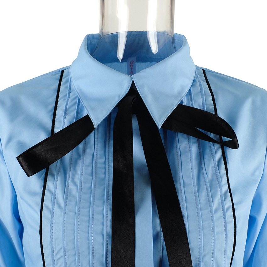 Office Bow Tie Blouse 8