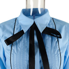 Bow Tie Blouse with Lantern Sleeve