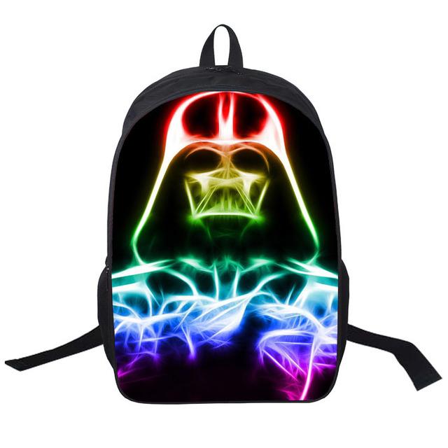 16 pulgadas star wars mochila niños mochilas escolares para niños 3d marvel super hero schoolbag bookbag bolso de kindergarten bebé niño 2017 nuevo