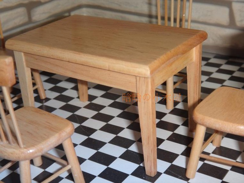 Dining table and chair set doll house 7