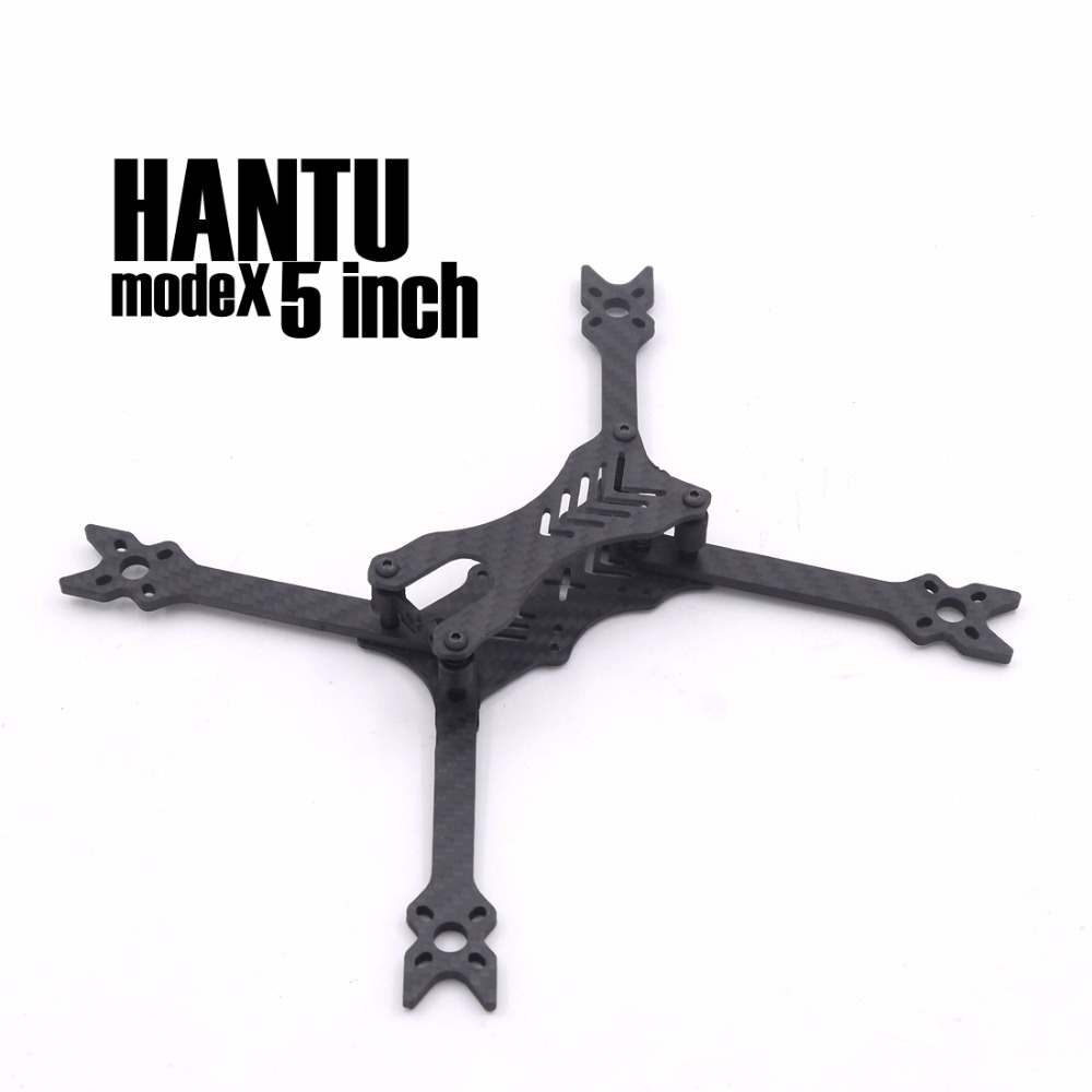 modeX HANTU 5 Inch 210mm 210 pure carbon fiber frame kit with 4mm arm 3D printing parts for FPV RC cross racing drone quadcopter diy fpv mini drone qav210 zmr210 race quadcopter full carbon frame kit naze32 emax 2204ii kv2300 motor bl12a esc run with 4s