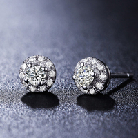 0.2carat Diamond 18K Gold Stud Earrings for Women Fashion and Fine Jewelry for Wedding and Engagement Ceremony