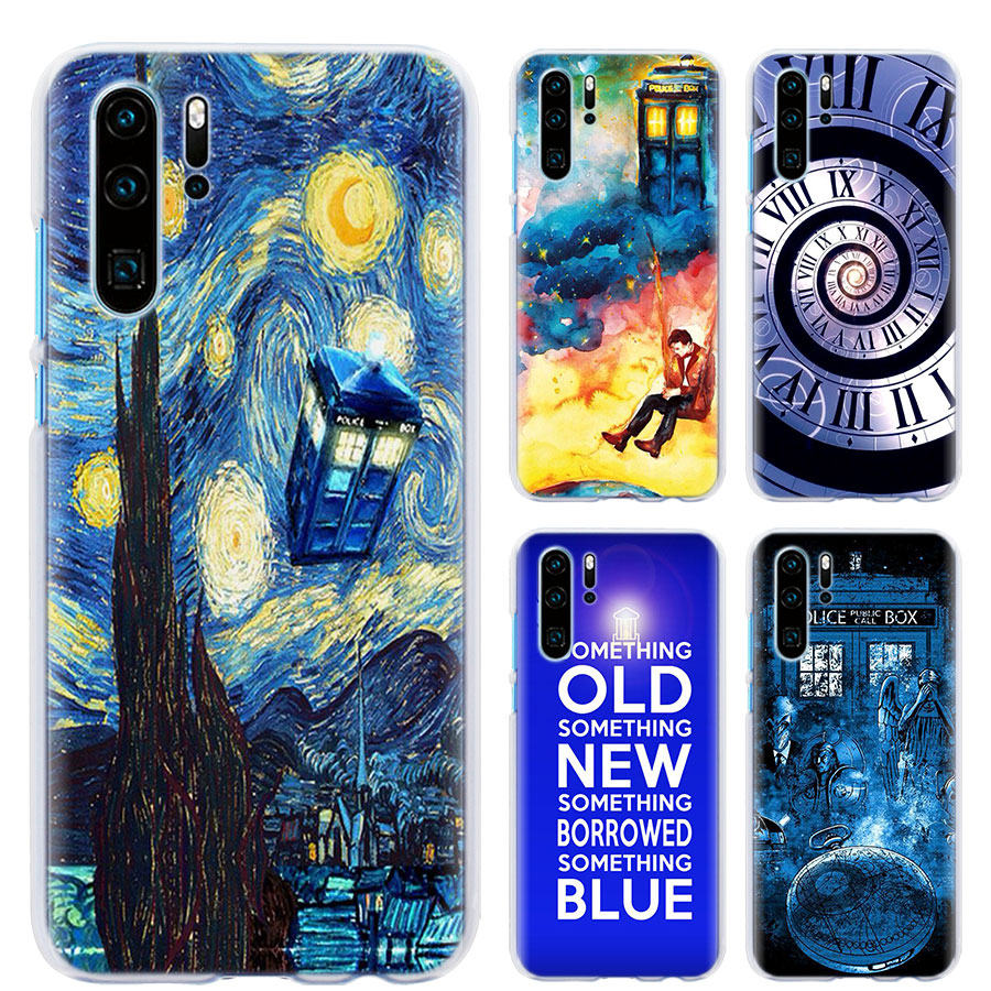 Half-wrapped Case Adaptable Doctor Who Van Gogh Phone Case For Huawei P30 P30 Pro P9 P10 P20 Lite P Smart Plus View 20 Hard Pc Back Case Coque Promoting Health And Curing Diseases Phone Bags & Cases