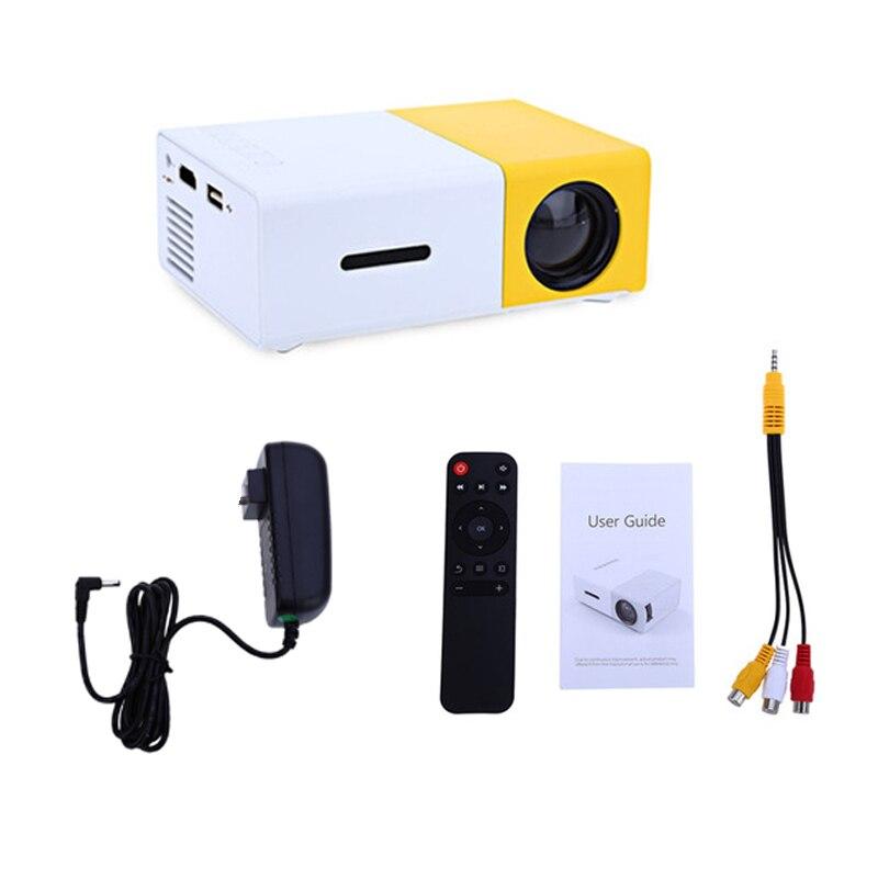 Salange YG300 projecteur LED 600 lumen 3.5mm Audio 320x240 Pixels YG-300 HDMI USB Mini projecteur maison lecteur multimédia - 6