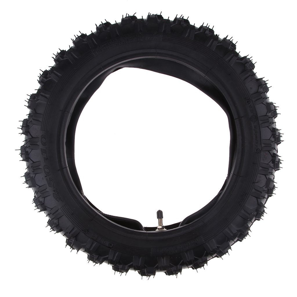 Rubber Motorcycle Tyre & Inner Tube Set 2.50-10 Pocket Durable Thick Wheel Motorcycle Tires For Yamaha PW50 PW 50