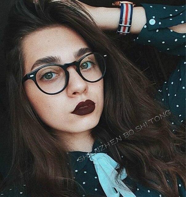 98d52dc5ee8 ... 2018 Fashion Women Glasses Frame Men Eyeglasses Frame Vintage Round  Clear Lens Glasses Optical Spectacle Frame ...