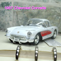 Brand New 1/34 Scale Diecast Car Model Toys Classic 1957 Chevrolet Corvette Vintage Metal Pull Back Car Toy For Gift/Children