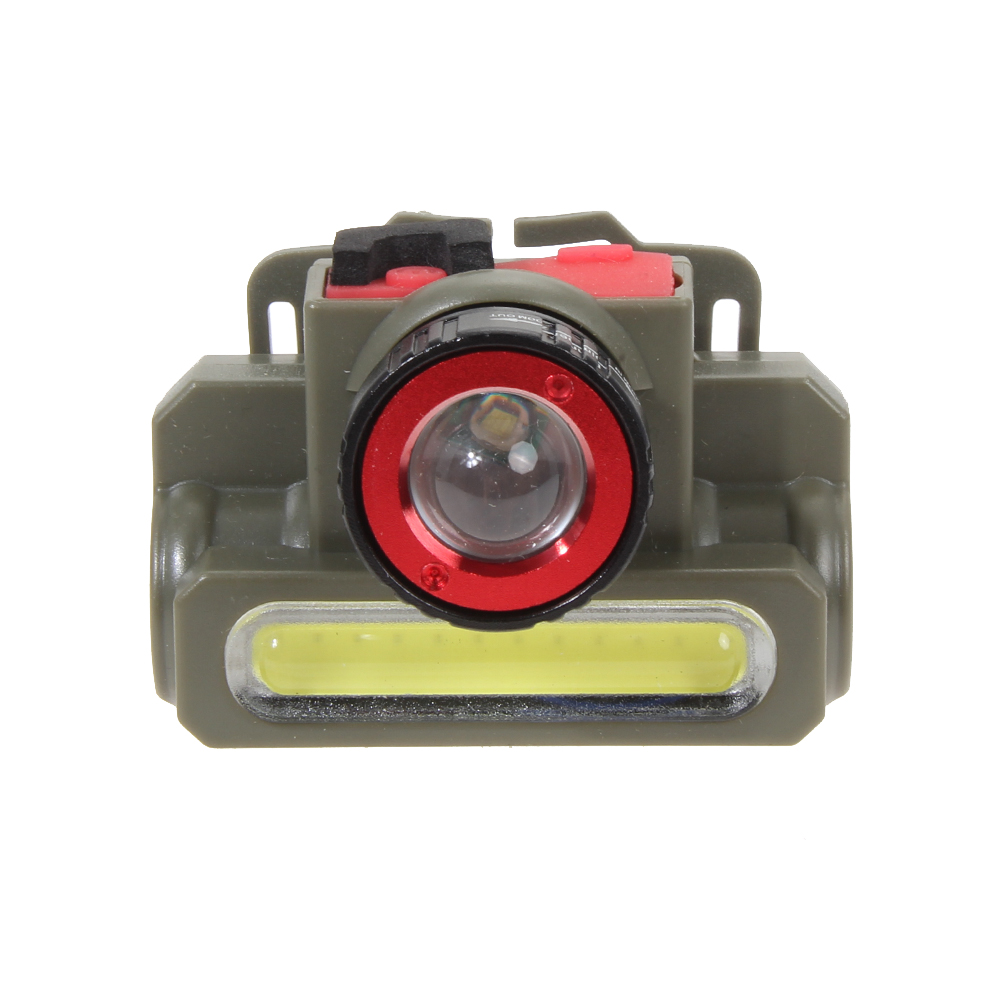 Zoomable Cree Q5 Led Headlamp Waterproofing Rechargeable COB LED Head Torch Lamps Light Built in