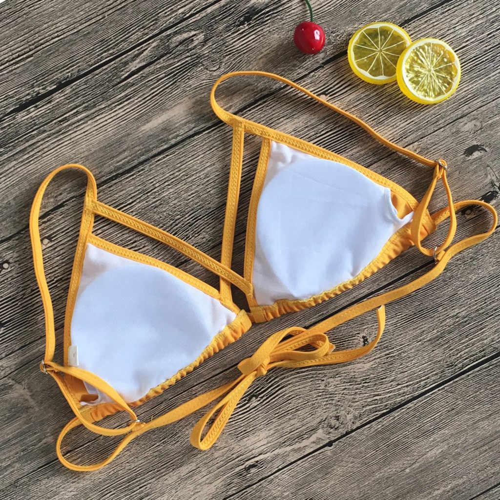 Женский купальник-бикини с цветочным принтом на каждый день, купальник из двух частей, пляжный костюм, модный костюм da bagno da donna #35