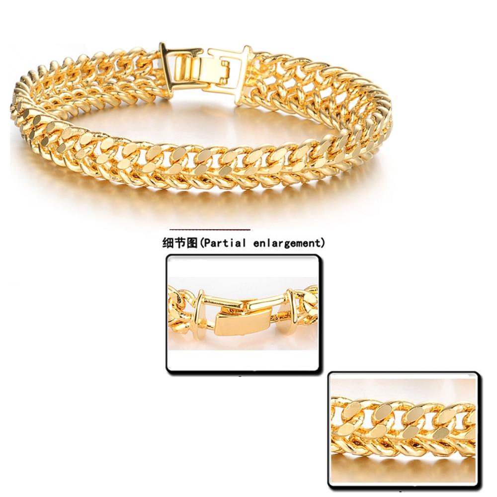 OPK Cool Man Gold Color Bracelet Chain Bracelets For Men Never ...