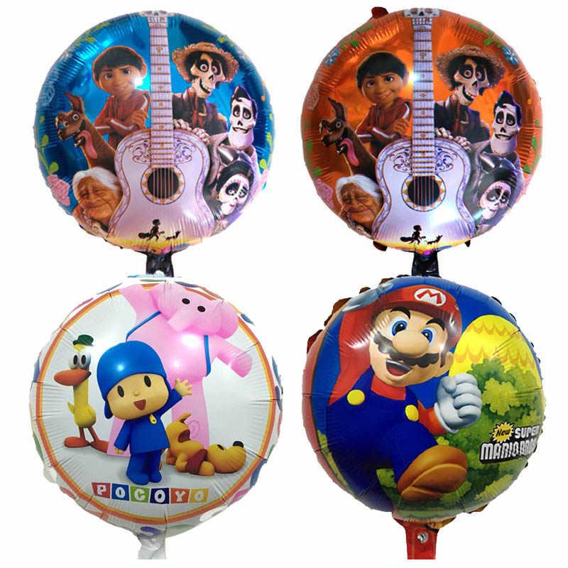 32 Estilos de Hélio Ballon Do Ar COCO Mario Brinquedos As Crianças Presentes brinquedo balões Feliz Aniversário Decoração Fontes Do Partido balão Pocoyo