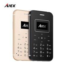 2017 ультра тонкий карты мобильного телефона aiek/x8 low radiation aeku мини карманные студенты личности детей телефон pk aiek m5 x6 x7 m8