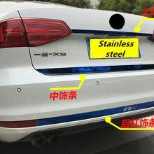 Из нержавеющей стали задний багажник защита украшения блестки задний бампер для Volkswagen- VW JETTA 6 MK6