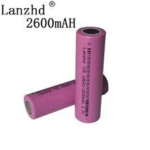 2pcs Original 18650 3.7V Lithium rechargeable Batteries for Flashlight li-ion ICR18650-26F 2600mAh  ICR18650 26F 2600 mAH