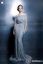 Luxus Voller Perlen Boot-ausschnitt Abendkleider Nach Maß Langarm Mermaid Kleider Party Prom