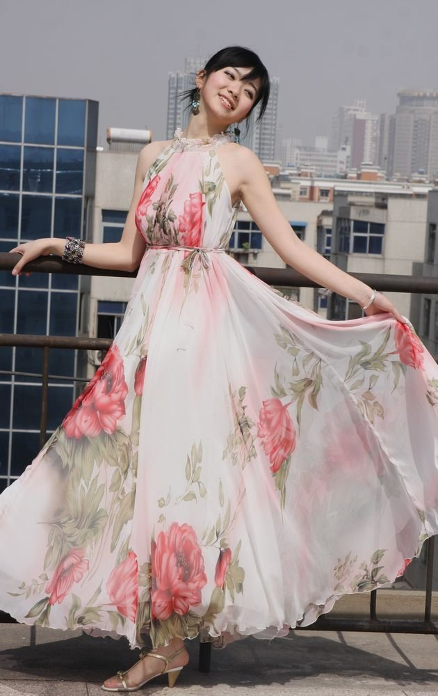 937d46ea389 SD02-8 100% quality Guarantee New Fashion Colorful Floral Elegance Silk Maxi  Long Dress drop shipping support
