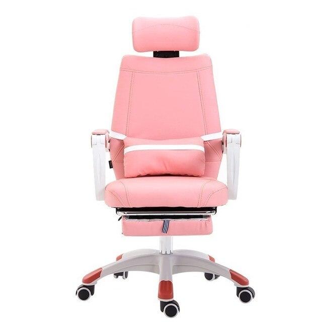 € 465.64 |UE ordenador silla giratoria de oficina hogar a trabajar en un  traer barandilla del ocioso Rosa color estudiante princesa cadeira RU en ...