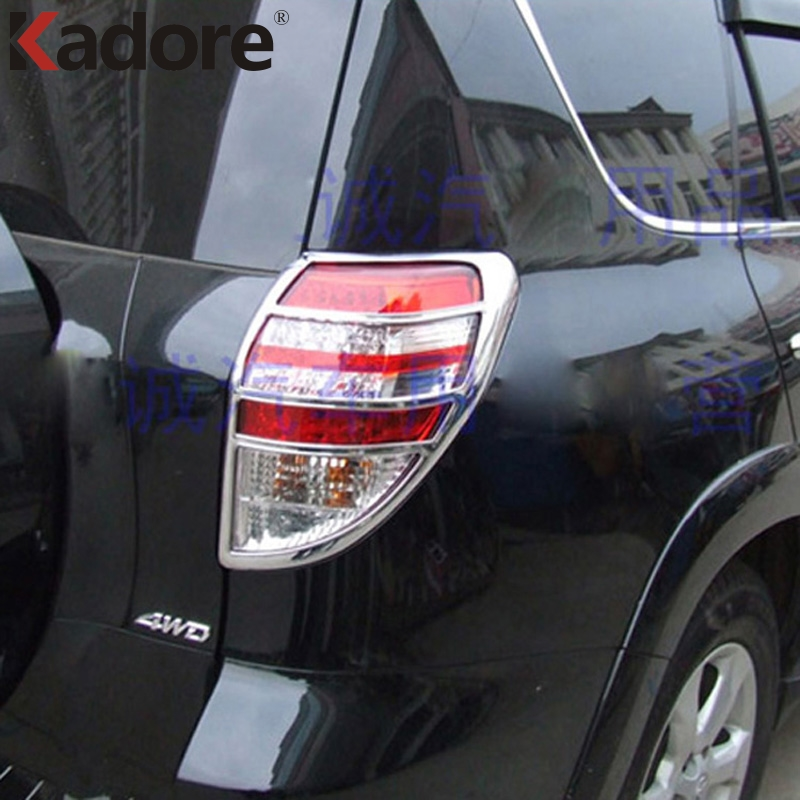 For Toyota RAV4 RAV 4 2009 2010 2011 TailLight Cover Decoration Styling Rear Lamp Lights Cover Hood ABS Chrome Car Trim 2PCS 2pcs chrome abs rear back window wiper cover trims for bmw x3 f25 2011 2015 car styling accessories