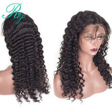 360 Lace Frontal Wig With Baby Hair Malaysia Deep Wave Glueless Pre Plucked Natural Hairline Human Hair Wigs Riya Remy Hair