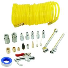 Hot 20 Piece Air Compressor Accessory Kit Includes 25ft Recoil Air Hose Blow Gun Tyre Inflato Quick Coupler Air blow gun Kit