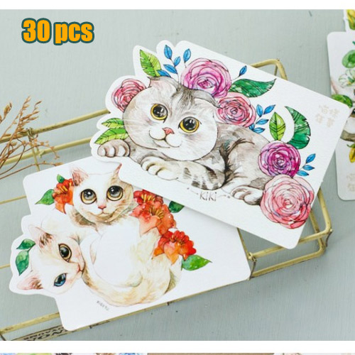New2017 30pcs cute cat postcard greeting gift cards vintage japanese new2017 30pcs cute cat postcard greeting gift cards vintage japanese style lovely animals paper drawing post m4hsunfo
