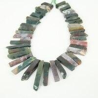 الهند ag أكلت شريحة الطبيعية فضفاض الخرز ، أعلى حفر لوح الجواهر ستون الخرز قلادة ل قلادة صنع المجوهرات بالجملة