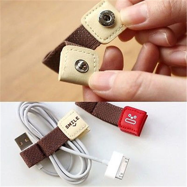 1Pcs Earphone Wire USB Cable Cord Winder Organizer Wire Cable Holder 2