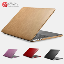For Macbook Pro 13 Case Vintage Microfiber Leather Slim Series Cover for Macbook Pro 13 Lu