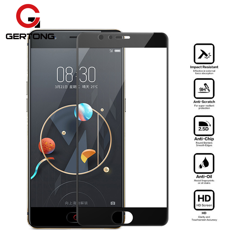 2.5D Full Cover Screen Protector Tempered Glass For ZTE Nubia M2 Lite Blade V8 Z17 Z11 Mini S A2 Plus Explosion Proof Glass Film(China)
