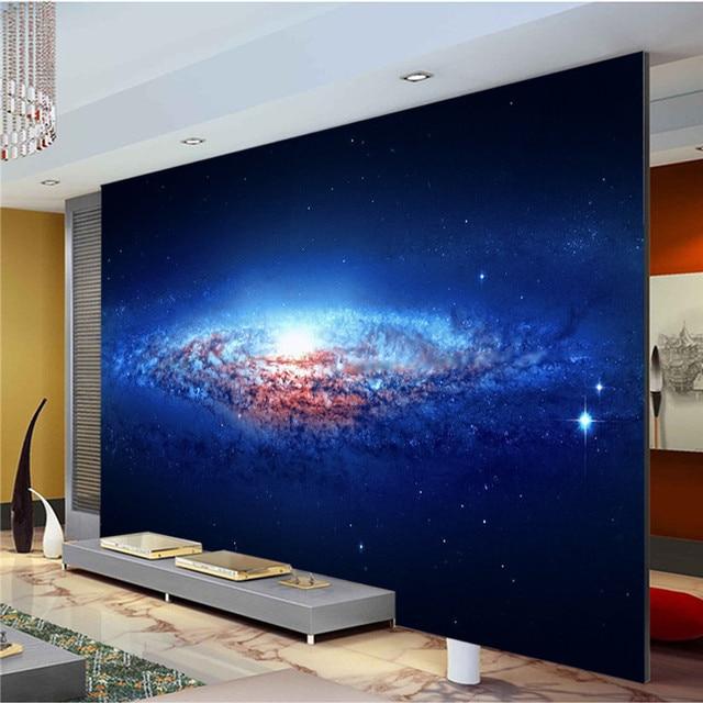 Charming blue galaxy photo wallpaper spiral nebula wallpaper custom wall mural art wall print decal home