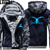 USA SIZE Unisex Death Note Hoodies Coat Winter Fleece Thicken Luminous Sweatshirts Jacket