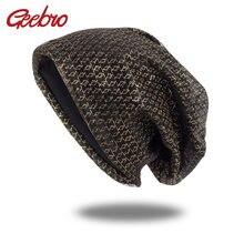 Geebro 新到着ファッション男性女性のための帽子女の子女性ビーニーターバンラップユニセックスだらしない Skullies ボンネット DQ916