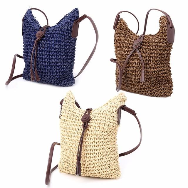 Thinkthendo Women Handmade Hollow Out Woven Bag Trend S Handbag Straw Shoulder Beach Hobo
