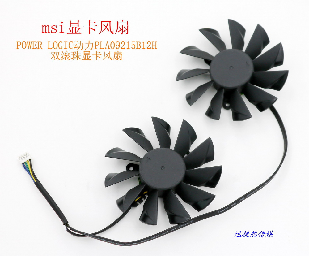 New Original for MSI PLA09215B12H 12V 0.55A graphics card cooling fan computador cooling fan replacement for msi twin frozr ii r7770 hd 7770 n460 n560 gtx graphics video card fans pld08010s12hh