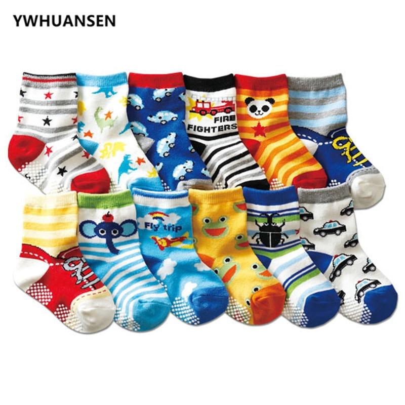 YWHUANSEN 0-2 Jahre Anti-slip Baby Socken Für Jungen Mädchen Recém Nascido Nicht-slip Calcetines Baby socken Neugeborenen Meia Infantil Menino