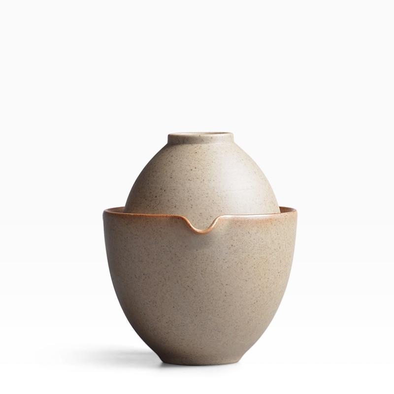 New Style Ceramic Kung Fu Tea Set Hand Made Crude Pottery