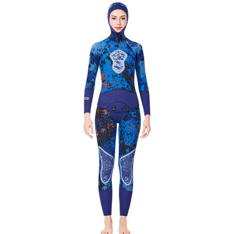 2019 камуфляж Для мужчин Для женщин 3 мм гидрокостюм подводная рыбалка костюм с близкого расстояния тела неопреновые гидрокостюмы для погружения под воду с аквалангом серфинг теплый