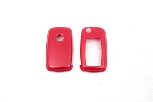 Жесткий Пластик БЕСКЛЮЧЕВОЙ дистанционный ключ защитный кожух(глянцевый красный) для Фольксваген MK6