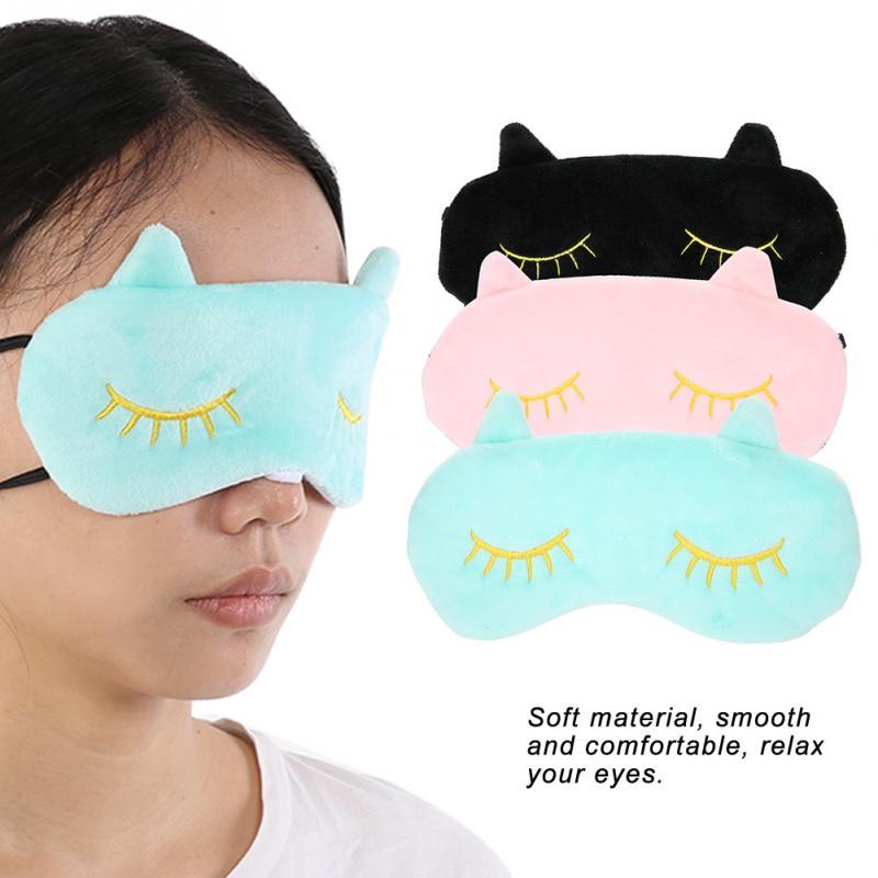 ffa23013015 3 Color Sleeping Mask Eyepatch Eye Care Eye Cover Cute Animal Lovely Cat  Cartoon