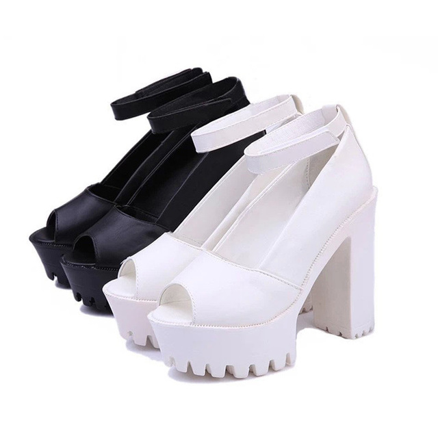Platform shoes High heels women pumps zapatos mujer lolita women shoes Fish head high heel 2015 new fashion Sandals ladies shoes