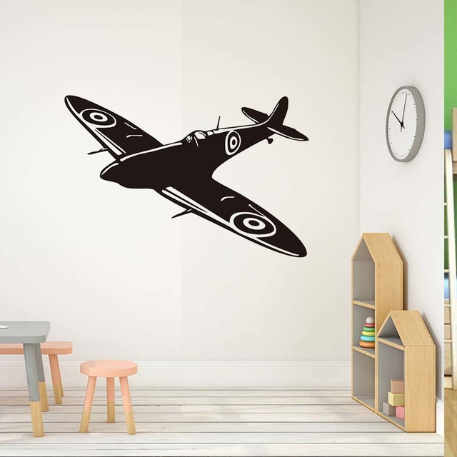 Kids Room Wall Sticker Airplane Vinyl Wall Decals Aircraft Waterproof  Removable Wallpaper Living Room Bedroom Decals