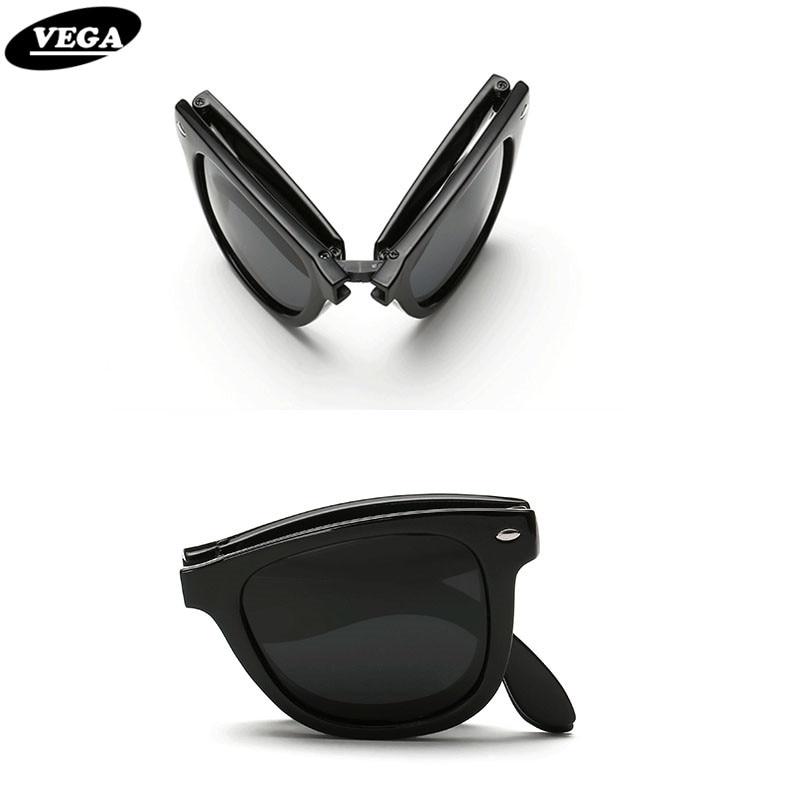 VEGA Dobrável Polarizada óculos de Sol Das Mulheres Dos Homens de Óculos De  Sol Dobrável Feminino Moderno Masculino Dobrável Óculos De Armação De  Plástico ... 857459ae07