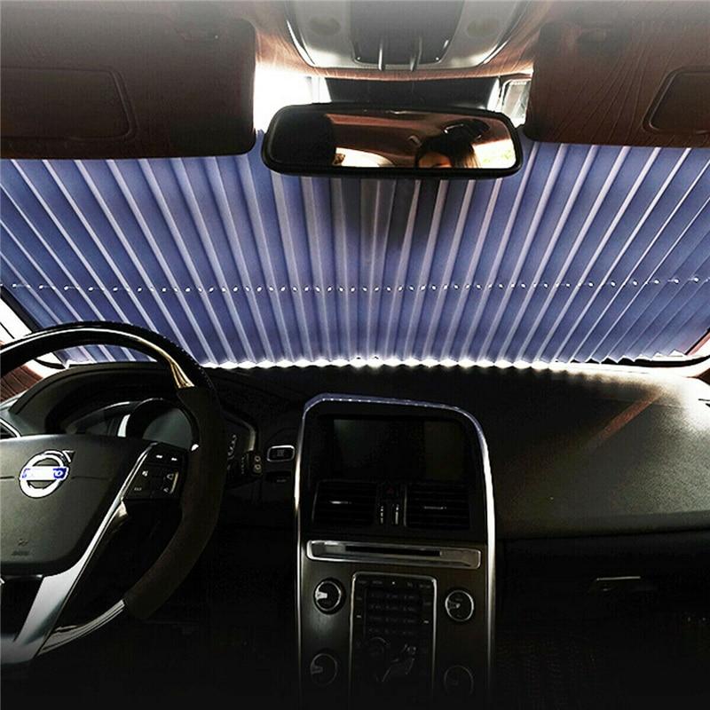 Car Retractable Front Window Sun Shade Visor Folding Automobiles Interior Sunproof Windshield Block Cover Protector Osculum Type