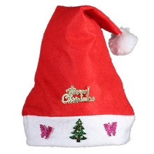 цена на With jewelry Christmas hat Santa Claus hat Christmas decoration props adult children Christmas hat wedding party supplies