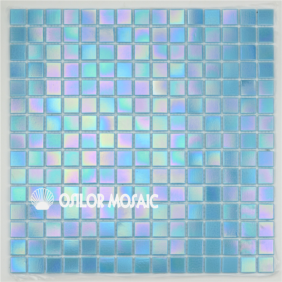 Free shipping blue glass mosaic tile indoor and outdoor wall tile floor tile swimming pool tiles 4.28 square meters/lot