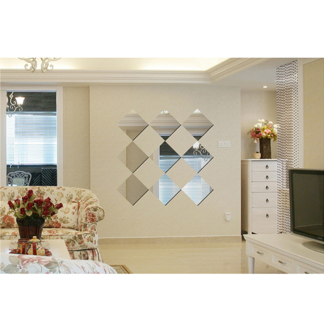 funlife(tm) diy mirror wall sticker,removable home decor funlife diy