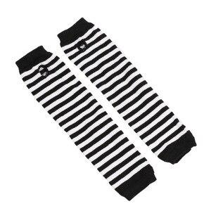 Image 2 - Модные длинные женские перчатки, эластичные вязаные полосатые перчатки без пальцев, женские теплые мягкие перчатки для вождения