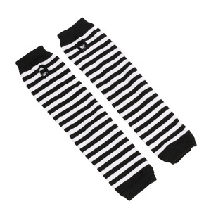 Image 2 - Fashion Long Women Gloves Stretchy Knitting Striped Fingerless Gloves Mitten Winter Warm Soft Female Gloves for Driving