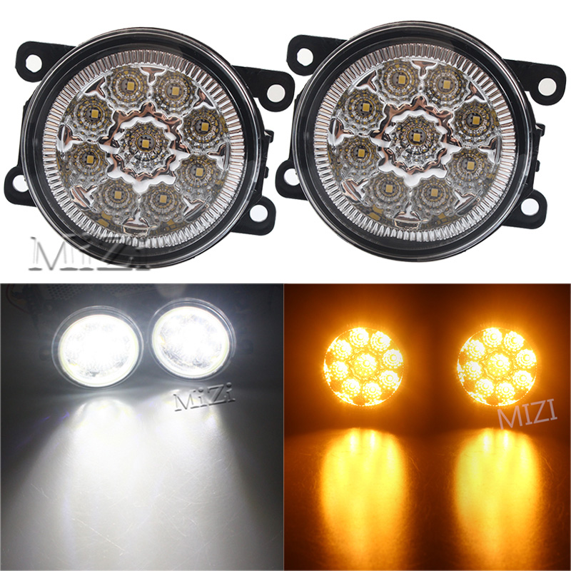 2PCS 12V 9W Fog Lamps DRL Lighting LED Lights For Mitsubishi L200 OUTLANDER 2 PAJERO 4 GALANT Grandis Super Bright Car-styling for mitsubishi l200 kb