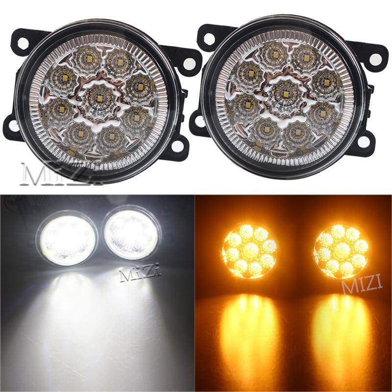 2PCS 12V 9W Fog Lamps DRL Lighting LED Lights For Mitsubishi L200 OUTLANDER 2 PAJERO 4 GALANT Grandis Super Bright Car-styling